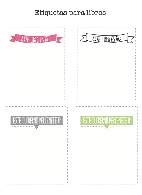 Etiquetas de libros para imprimir   Washi tape, scrap i imprimibles ...
