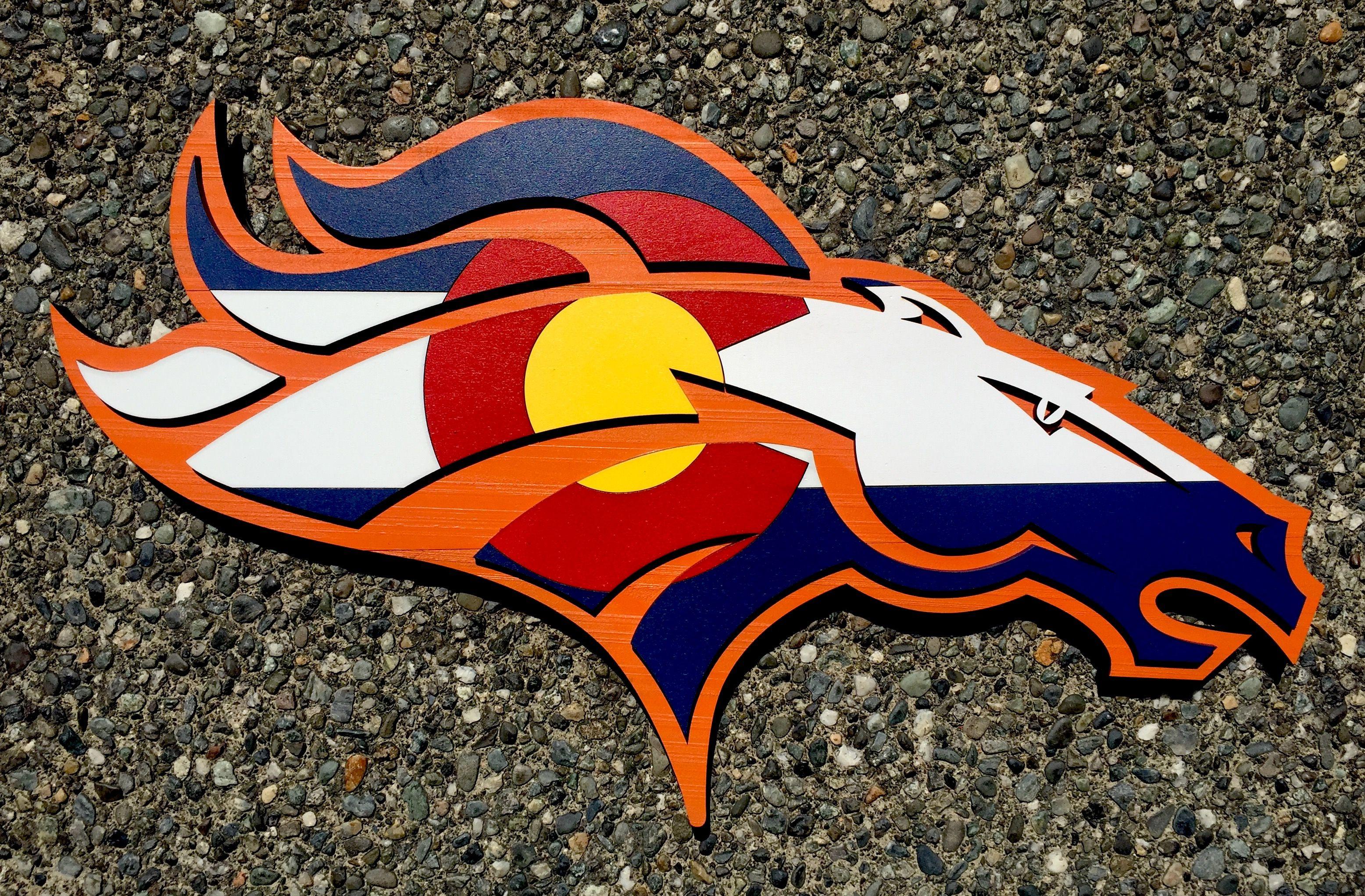 Denver Broncos Colorado Wood flag. 3D wood wall art. Handmade in USA ...