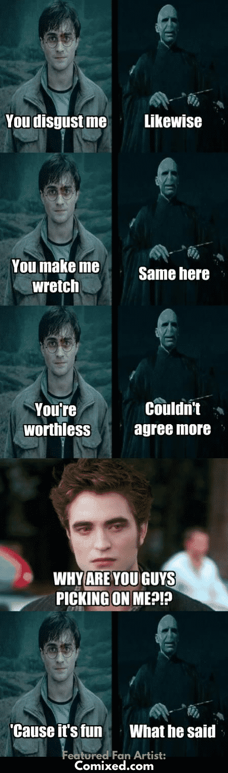 11 Hilarious Harry Potter Fanfiction Memes Only A True Fan Will Love Harry Potter Memes Hilarious Harry Potter Vs Twilight Harry Potter Funny