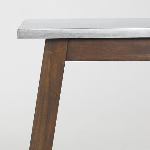 $799 Solid Wood Table w/ Stainless Steel Top west elm For the