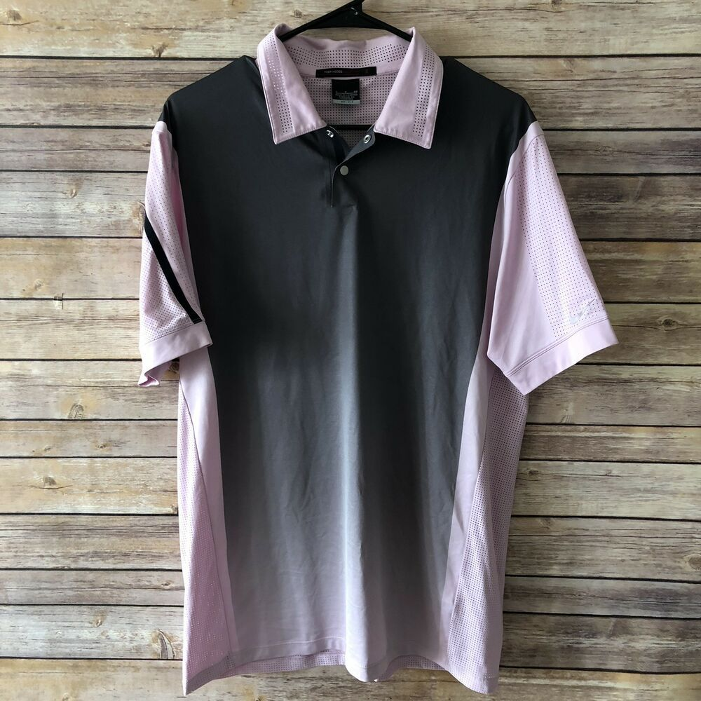 2dac96af1 Tiger Woods Collection Nike Men s S Polo Golf Shirt Pink Dri Fit Snap  Collar EUC  fashion  clothing  shoes  accessories  mensclothing  shirts  (ebay link)