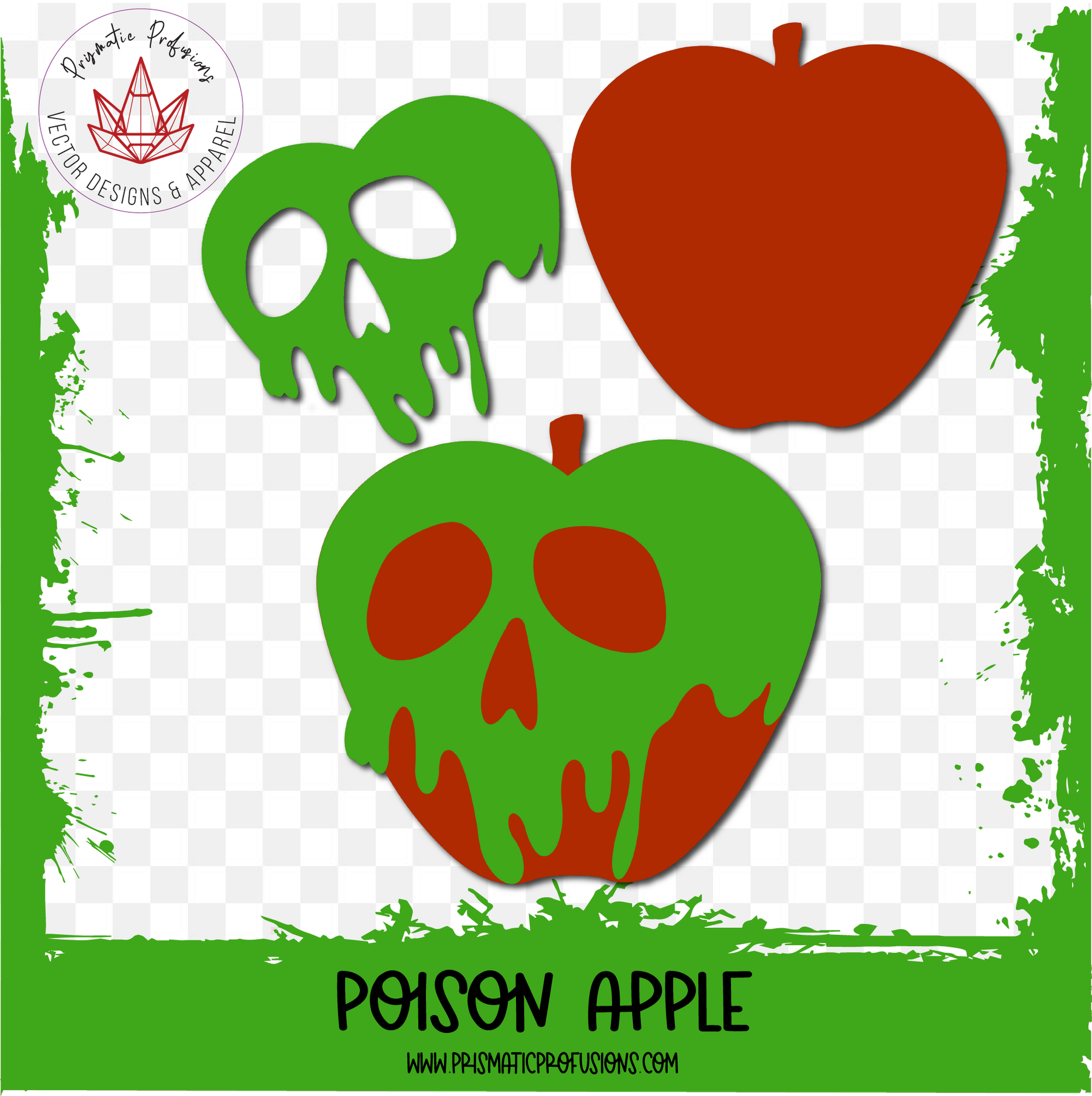Poison Apple, Poison Apple SVG, Poison Apple Clipart Card making stickers, Apple
