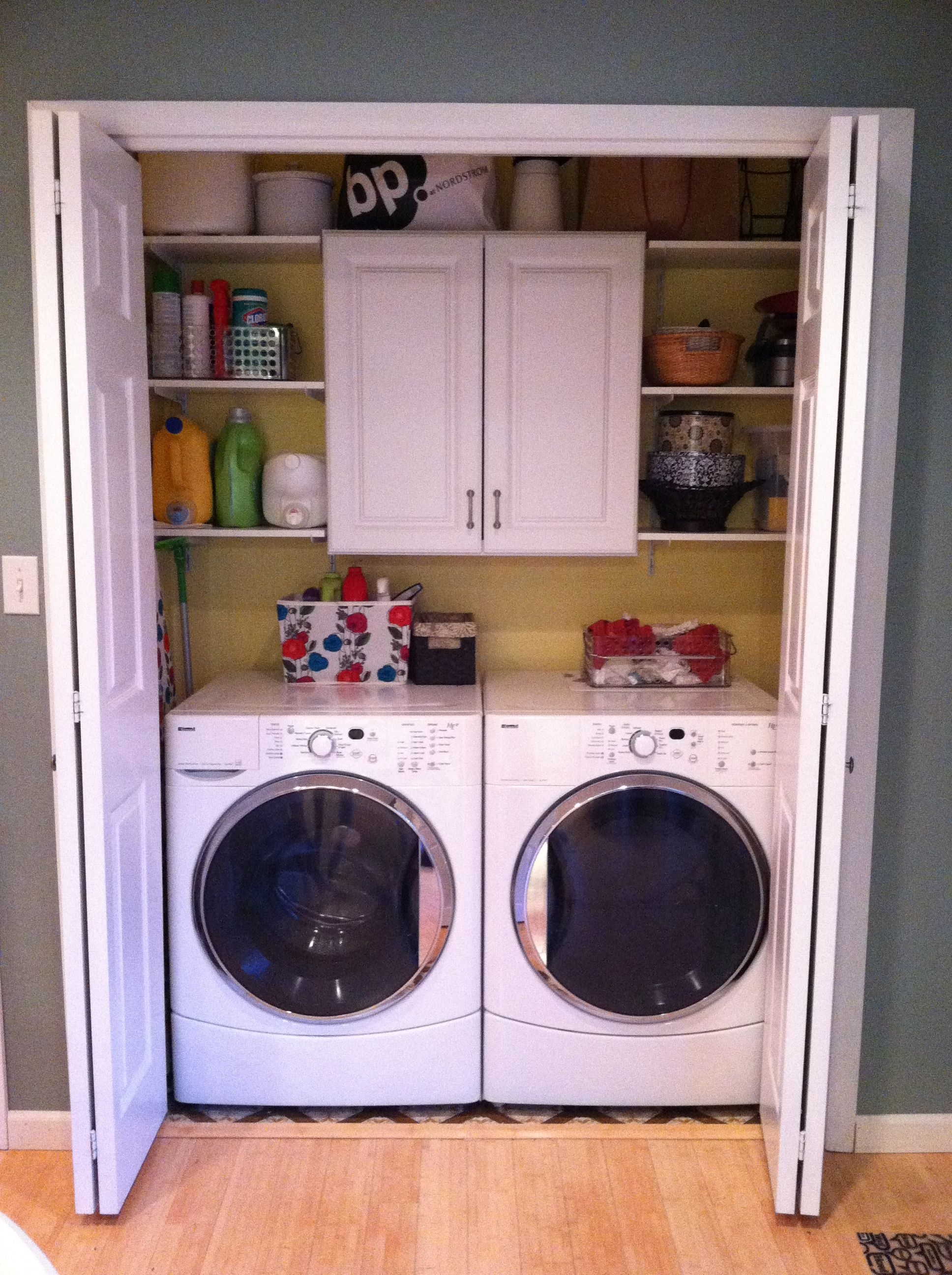 Laundry closet upgrade! Good use of a small space Curb