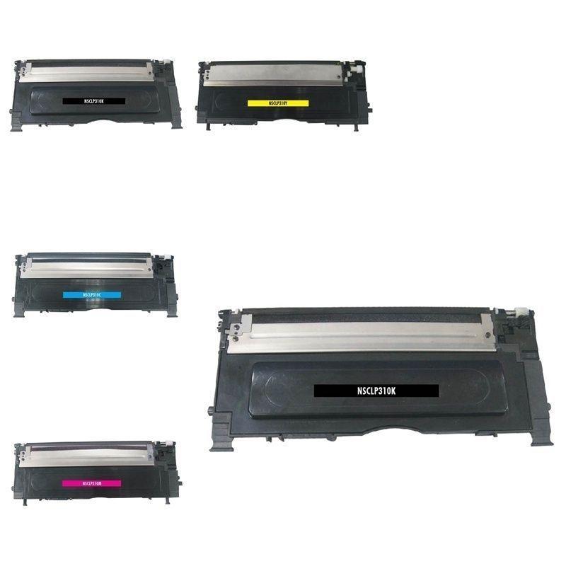 Insten Premium 2BCMY Color Toner Cartridge CLT-K409S/ CLT-C409S/ CLT-M409S/ CLT-Y409S for Samsung CLP-315/ CLX3175FN, Pink #1335032