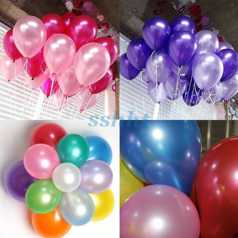 "100Pcs 10"" Top Quality Latex Helium Ballons Wedding Party Birthday Decoration"
