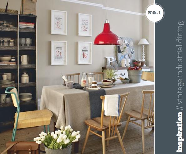 Vintage-industrial dining room