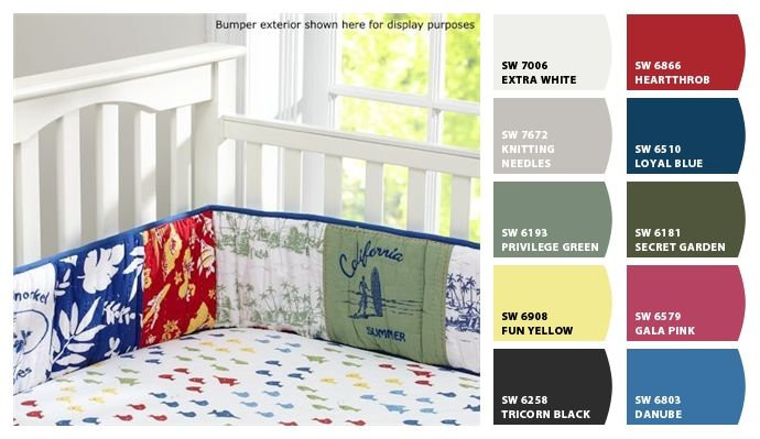 Baby room paint colors from Chip It! by Sherwin-Williams