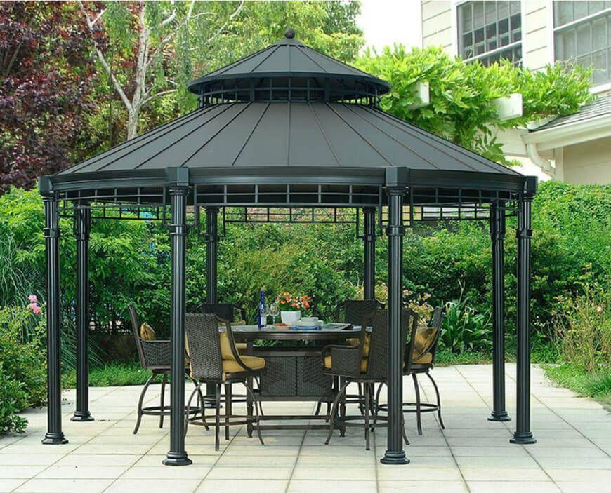 36 Spectacular Hardtop Gazebo Ideas Patio Gazebo Pergola Patio