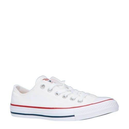 Converse Chuck Taylor All Star OX wit/rood - Converse chuck ...