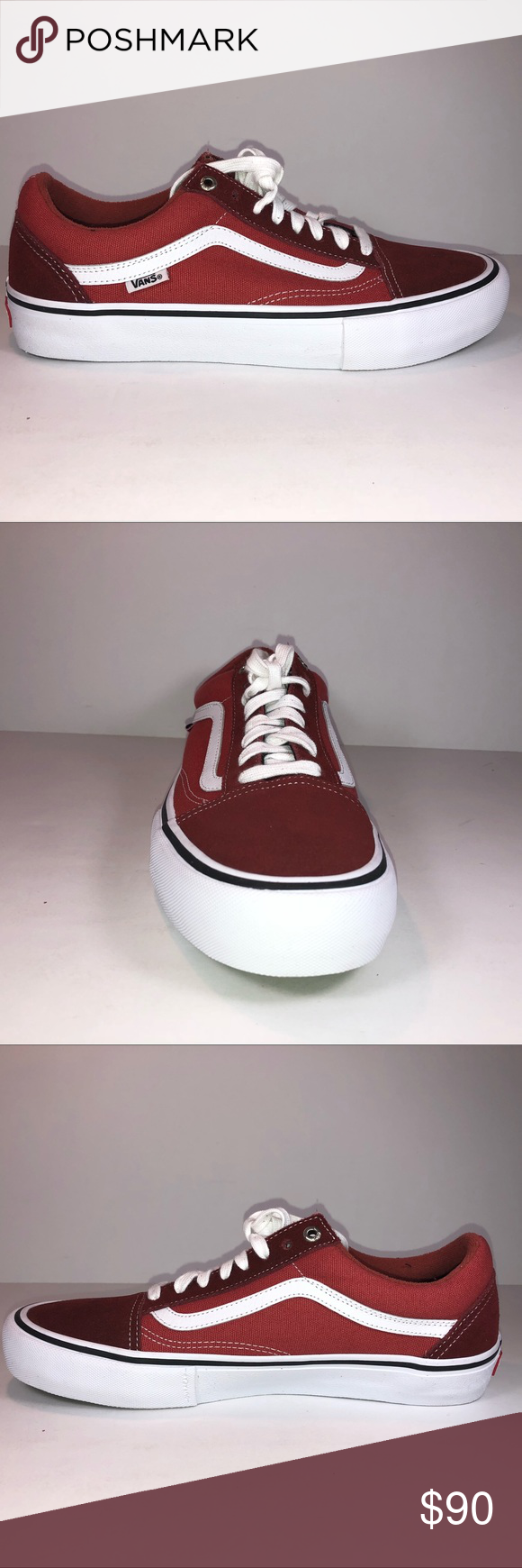 65fe6cb58e0 Vans Old Skool Pro Two Tone Madder Brown Sneakers New With Damaged Box See  Pictures For