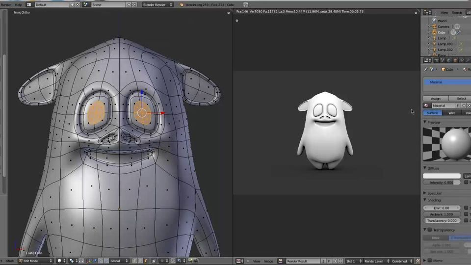 Blender Character Modeling For Unity : Modeling a cartoon character in blender