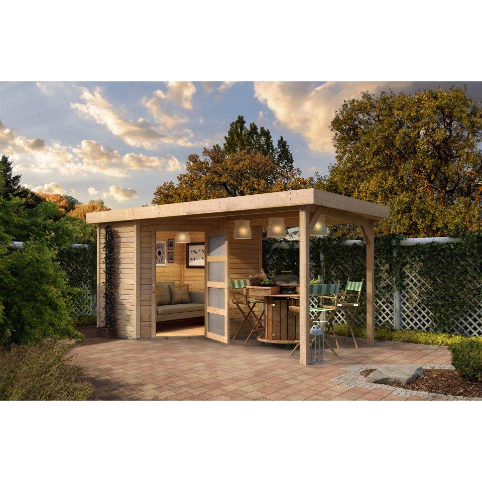Karibu Woodfeeling Gartenhaus Schwandorf 3/5 inkl. 240 cm