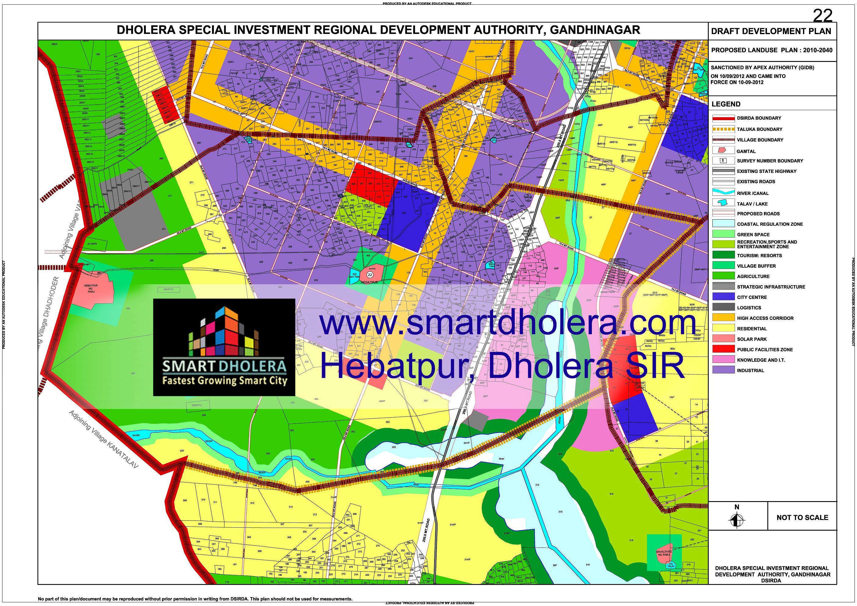 Map of Hebatpur, Dholera SIR | Map of Dholera SIR | Village