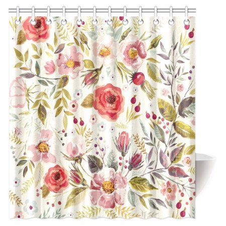 Home Floral shower curtains, Peel, stick wallpaper