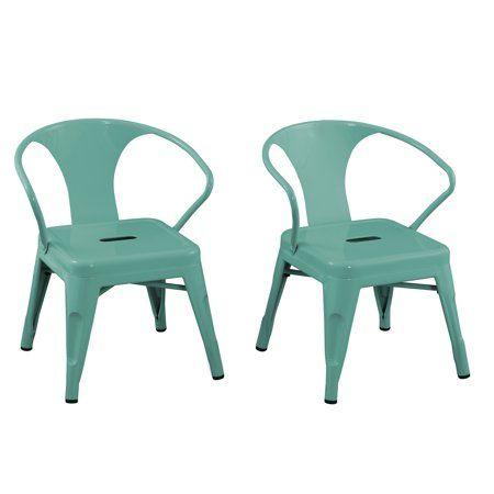 Acessentials Kids Metal Activity Chair 2pk Multiple Colors Blue