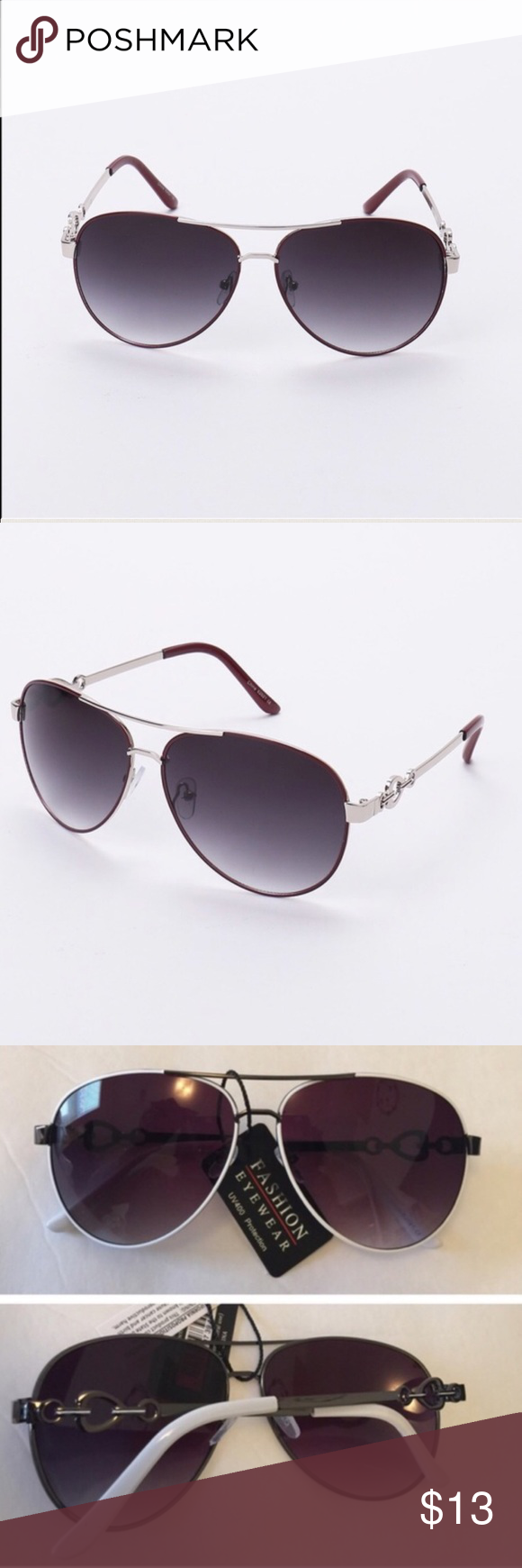 April Spirit Aviatior Shades Aviator shades available with decorative arms.Has UV 400 protection. Comfortable and lightweight.  🚫Trades ✅Pride firm,Bundle to save on shipping April Spirit Accessories Sunglasses