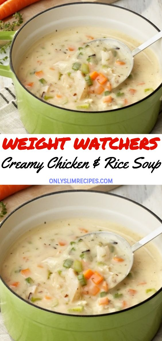 Creamy Chicken & Rice Soup (slow cooker)