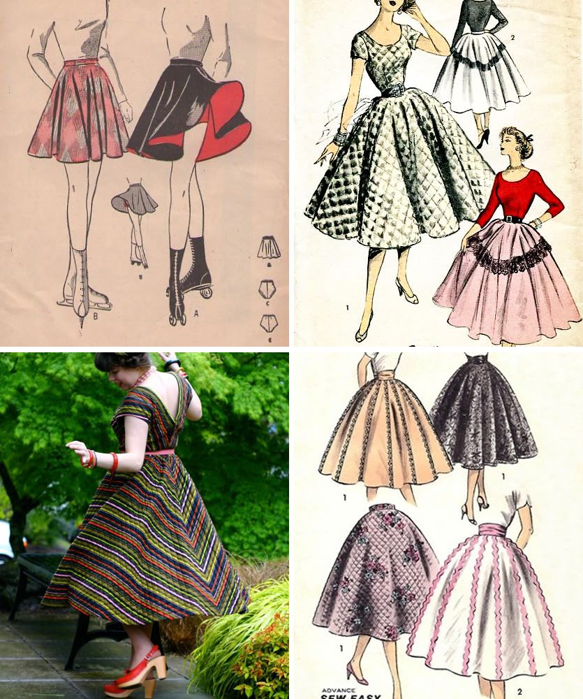 Circle Skirt Sew-Along. Like free online sewing lessons!
