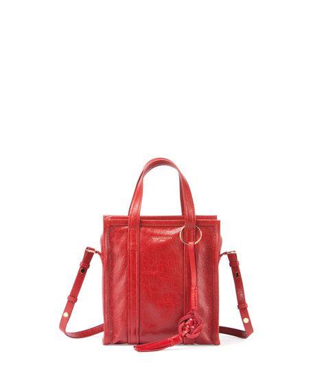BALENCIAGA Bazar Chinese New Year Extra-Small Tote Bag, Red. #balenciaga #bags #shoulder bags #hand bags #tote #