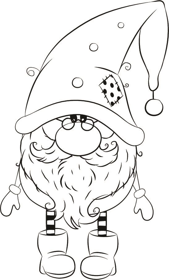1255 01 Michael Winter Gnome Christmas Coloring Pages Gnomes Crafts Coloring Pages