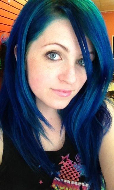 Www Outrageousrainbows Com Dyed Hair Hair Beauty Cat Blue Hair