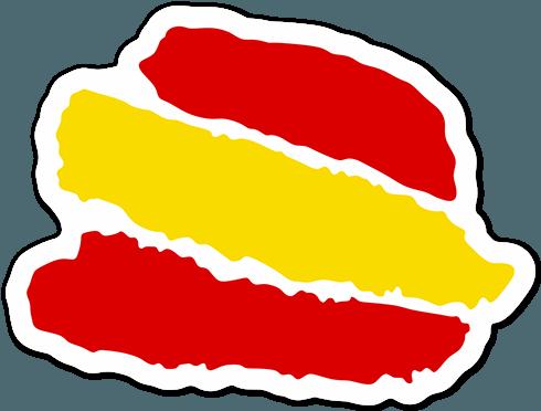 Pegatinas trazos bandera espa a bandera pegatina teleadhesivo pegatinas - Teleadhesivo vinilos decorativos espana ...