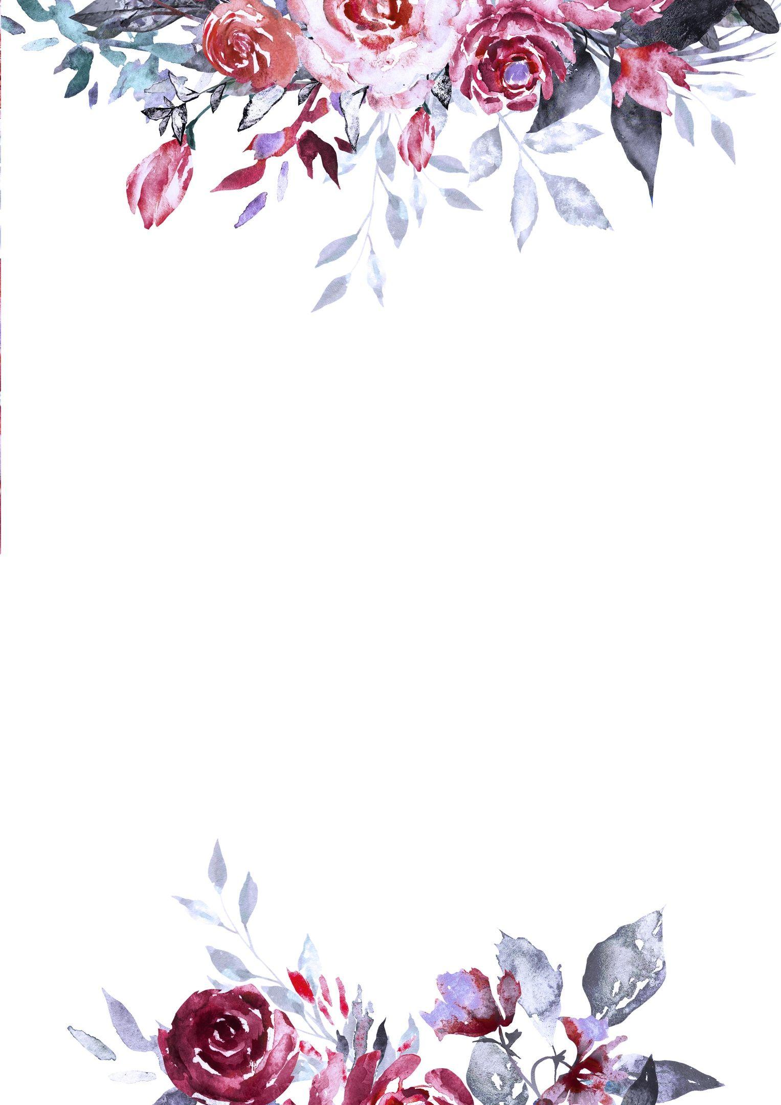 Днем рождения, открытки приглашения с цветами