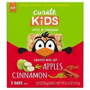 Curate™ Kids Apple & Cinnamon Energy Bars & Gels 6.15 oz