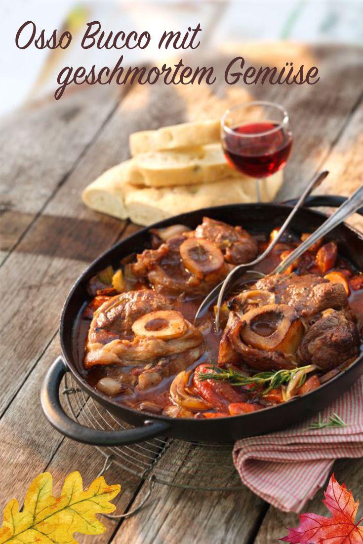 Osso Bucco mit geschmorten Gemüse und Tomate – Rezept #ossobuccorezept