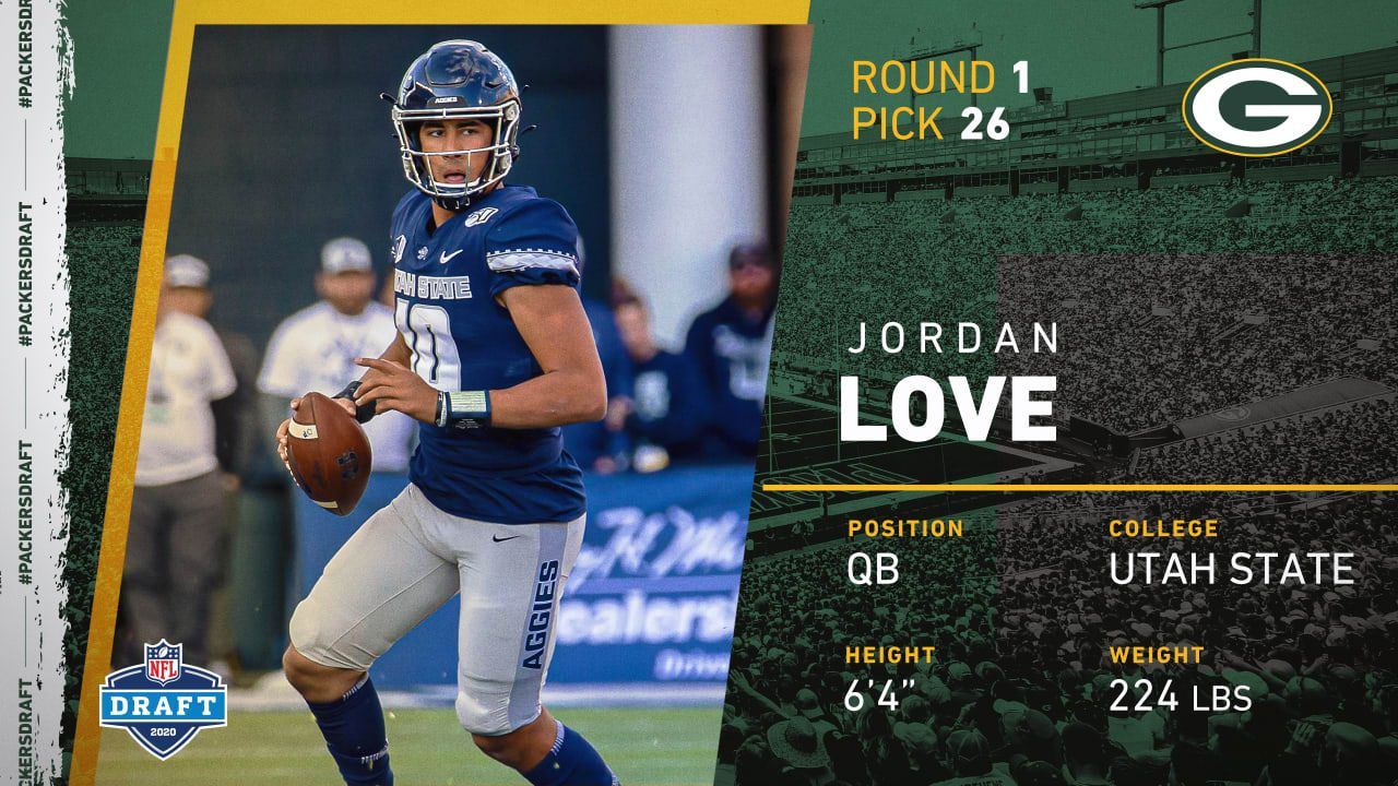2020 Nfl Draft Packers Select Utah State Qb Jordan Love In First Round No 26 Overall In 2020 Nfl Draft Nfl Network Packers