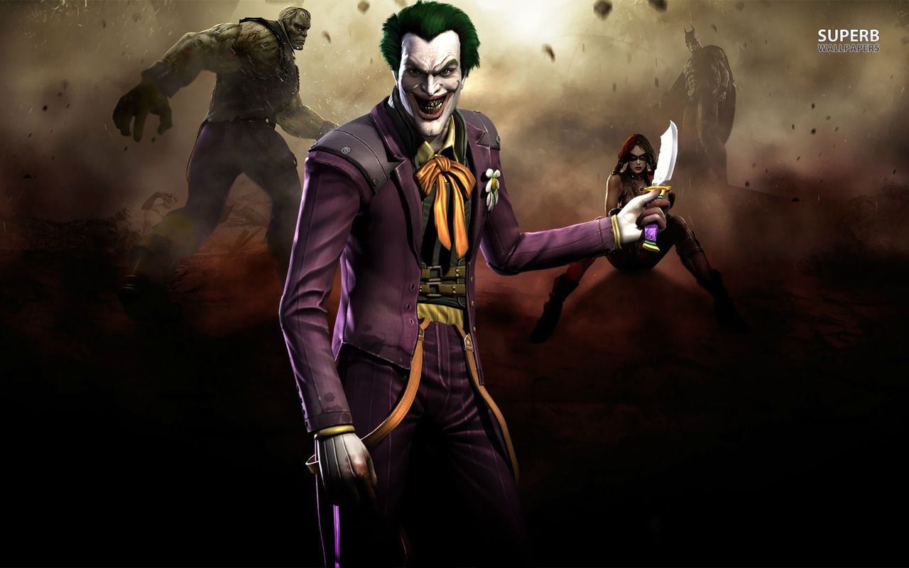 The Joker Injustice Gods Among Us Wallpaper In 2020 Joker Comic Joker Artwork Joker Art
