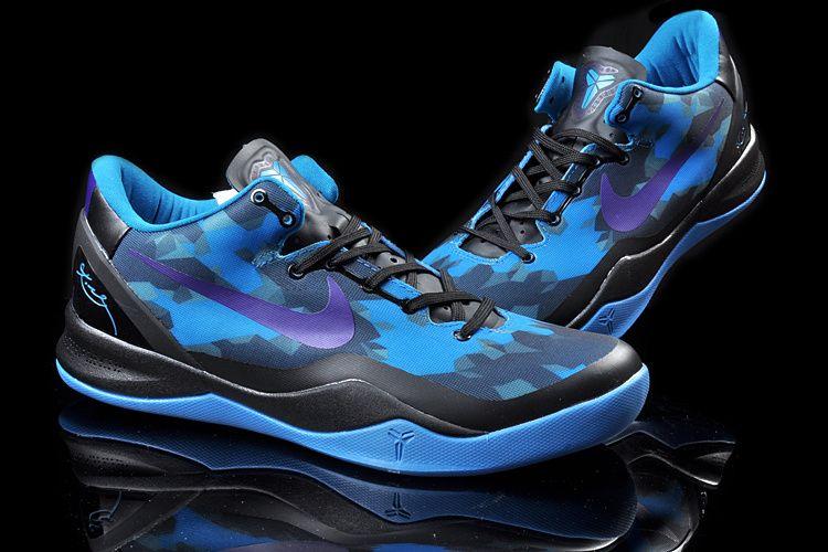 Men's Nike Zoom Kobe VIII Basketball Shoes Blue/Purple/Black/Black 555035 010