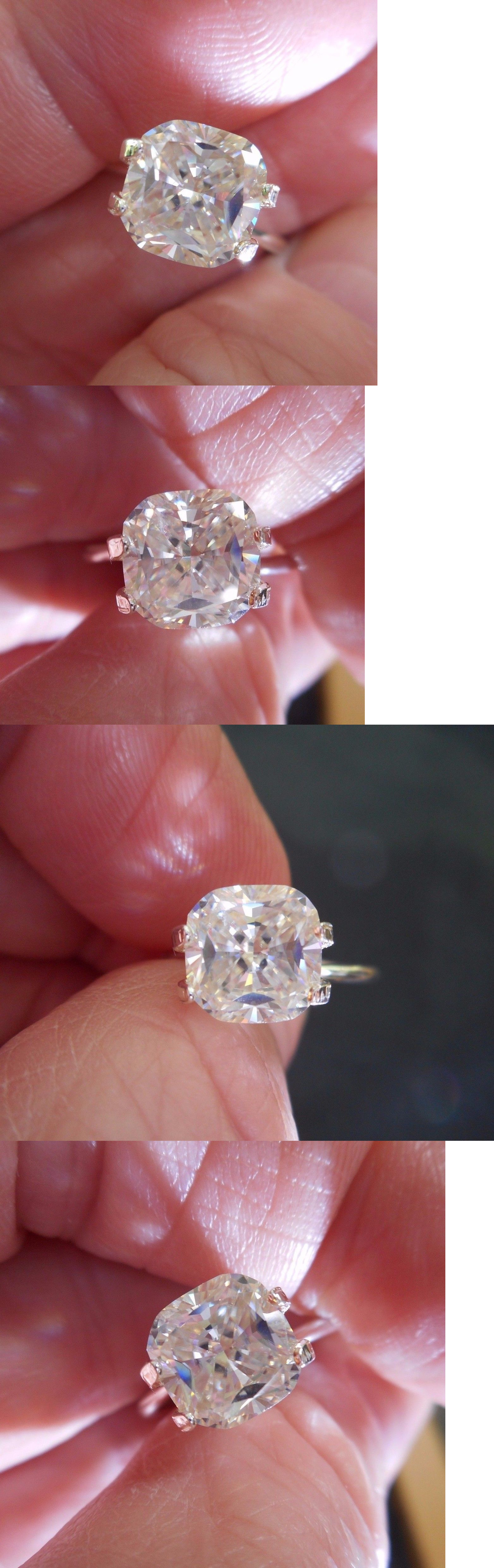 Synthetic Moissanite 110800: Cashmere 1.78 Ct 7.83X7.72 Mm Vvs1 Icy ...