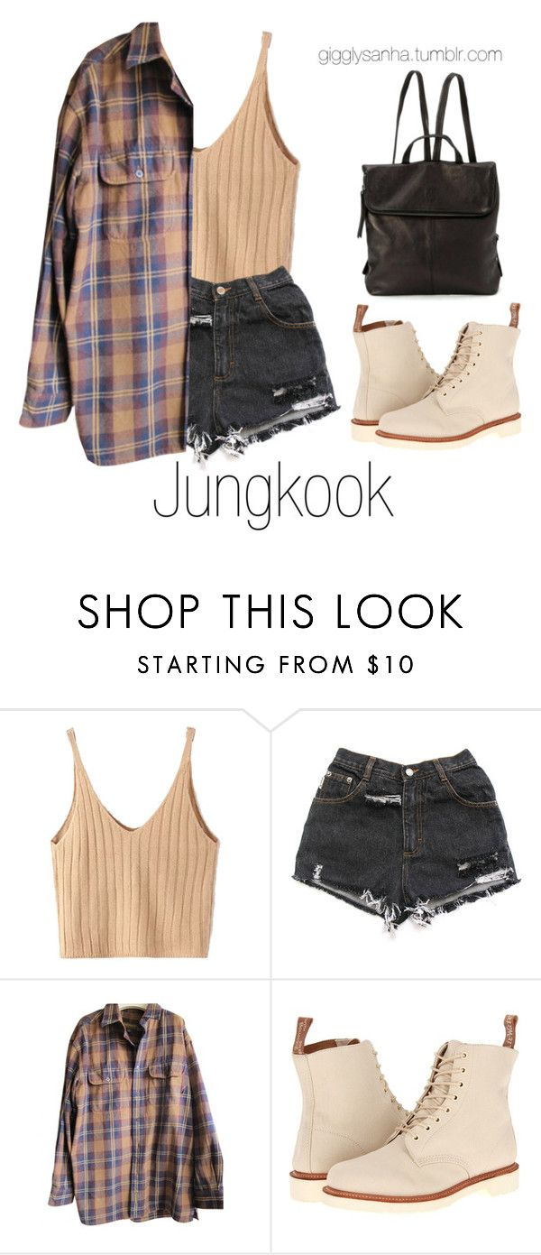 """""""Roaming Houston // Jungkook"""" by suga-infires ❤ liked on Polyvore featuring WithChic, Timberland and Dr. Martens"""