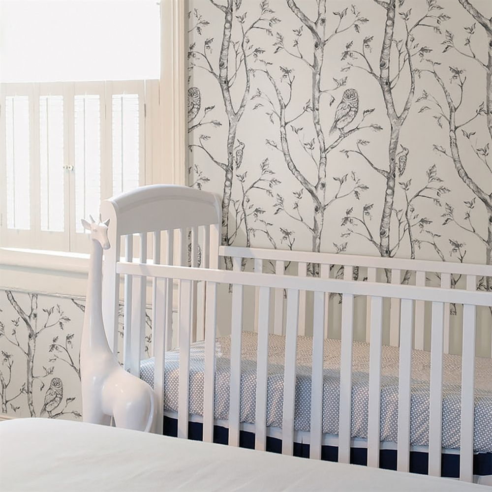 Shop Brewster Home Fashions Nu1412 Nuwallpaper Grey Woods Peel And Stick Wallpaper At Atg Stores Brows Nuwallpaper Kids Room Wallpaper Tree Wallpaper Bedroom