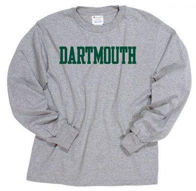 Champion Youth Long Sleeve Dartmouth Big Green T-Shirt
