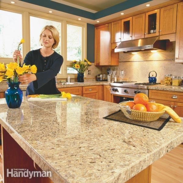 LOVE THE GRANITE COLOR IN THIS PIC. How To Install Granite Countertops  Granite Tile Gives You The Appearance Of A Solid Stone Slab At One Third  The Cost.