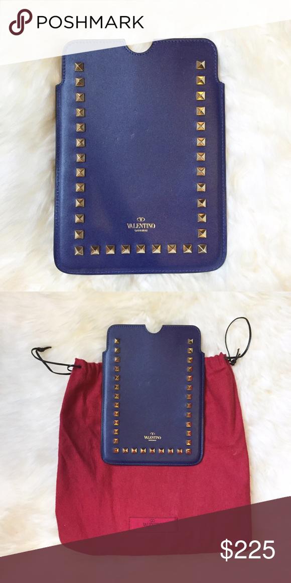 76decc807 Valentino Rockstud iPad Mini Case Purple/Blue Rockstud leather iPad mini  sleeve. Brand new