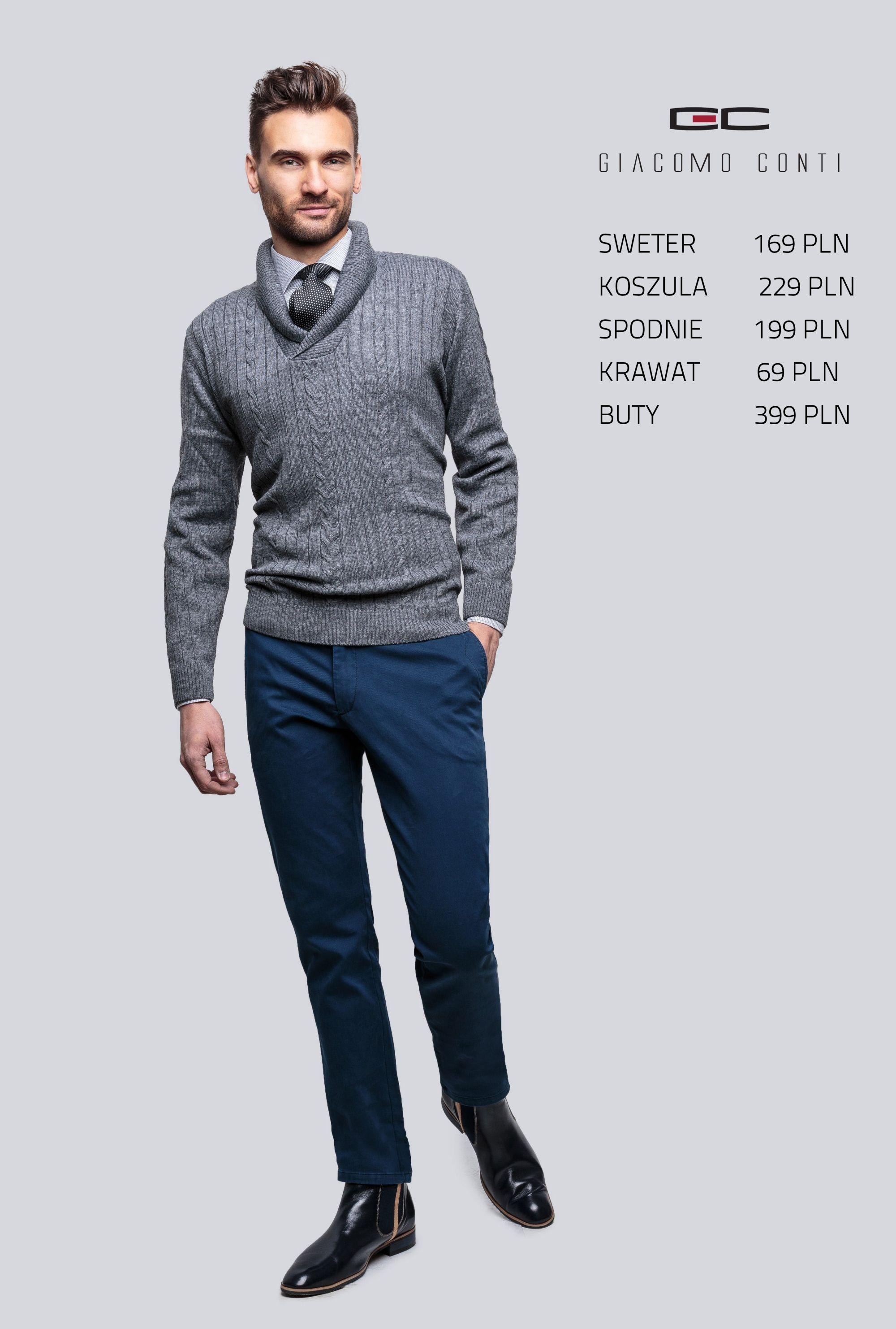 Stylizacja Giacomo Conti Sweter Paolo 14 39 Cs Koszula Michele W 14 09 05 Spodnie Riccardo 14 49 K Koszula Spodnie Giacomoconti