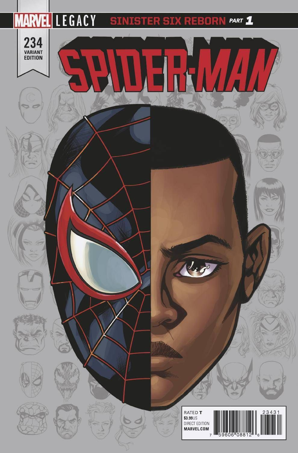 Spider Man 234 Mckone Legacy Headshot Var Leg 11 1 2017 1 10 Ratio Spiderman Art Spiderman Amazing Spiderman