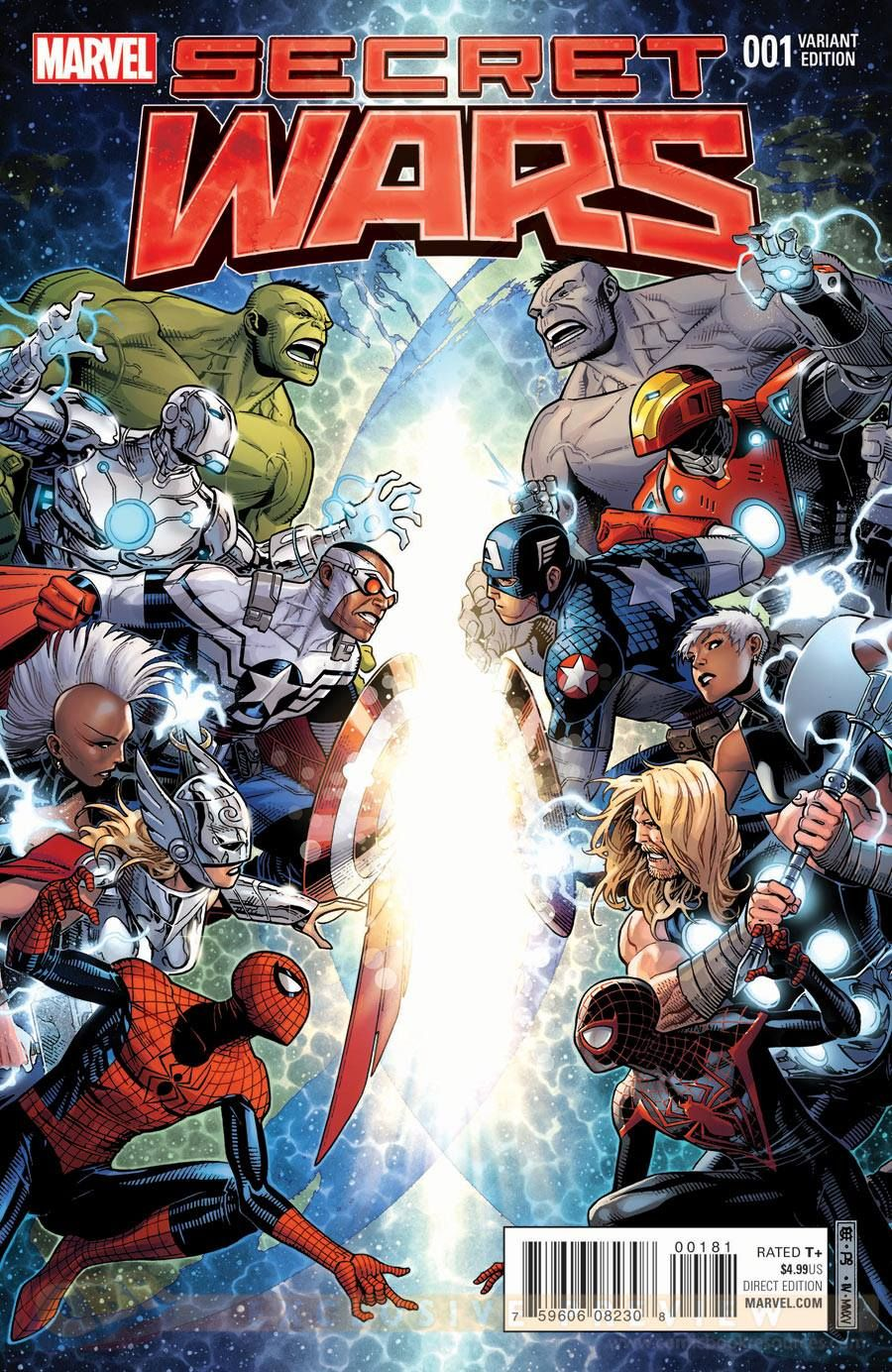 Secret Wars 1 variant cover by Jim Cheung * Marvel