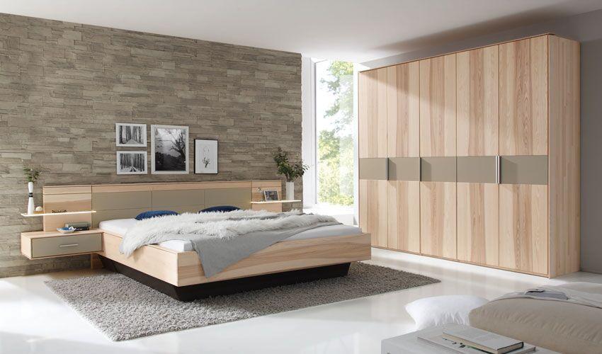 Schlafzimmer Kleiderschrank Doppelbett Nachttische - zirbenholz schlafzimmer modern
