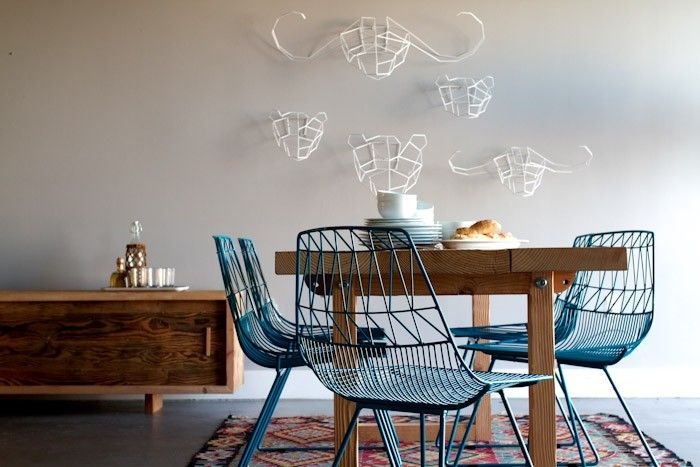 Industrialize Your Dining Room With Metal Dining Chairs  Dining Glamorous Wire Dining Room Chairs Inspiration
