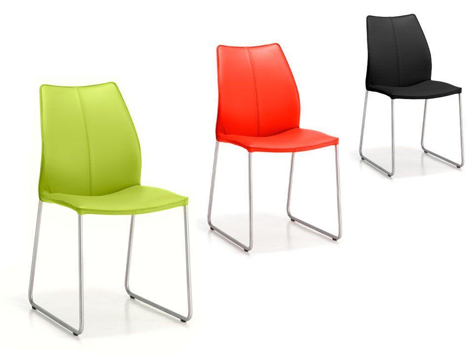 Eetkamerstoel Tremolo op sledevoet - Design eetkamerstoelen ...