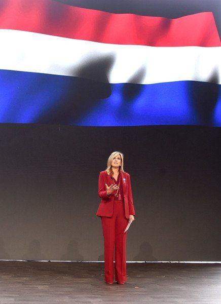Queen Máxima held a speech at the Goalkeepers event and met Ivanka Trump in New York City