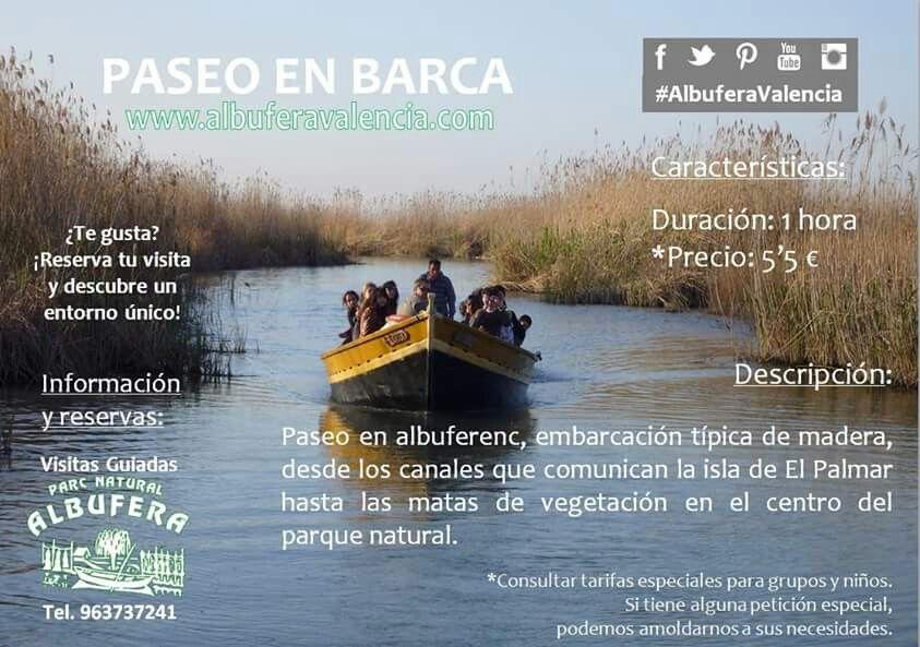 Paseo En Barca Por L Albufera De Valencia Albufera Valencia Parques Naturales Paseos