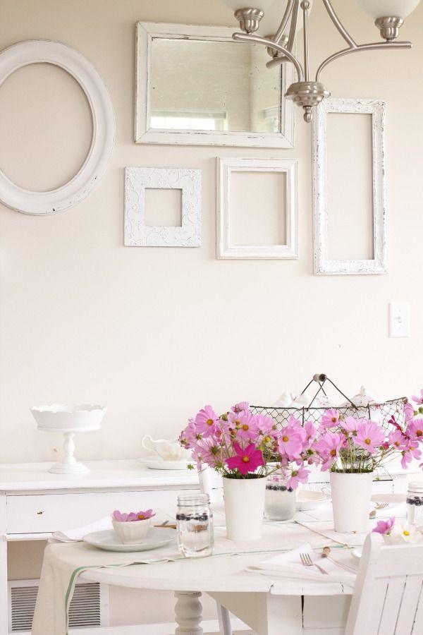 Muur met witte lijsten | Huis - Home | Pinterest