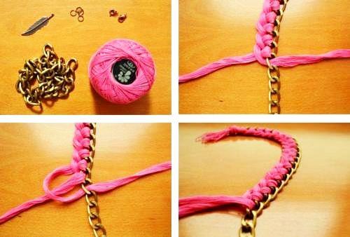 45a8c6bcbd98 DIY: Cómo hacer collares artesanales | Joyería | Como hacer collares ...
