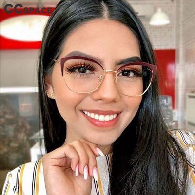 Photo of 45953 Retro Cat Eye Glasses Frames Men Women Optical Fashion Computer Glasses