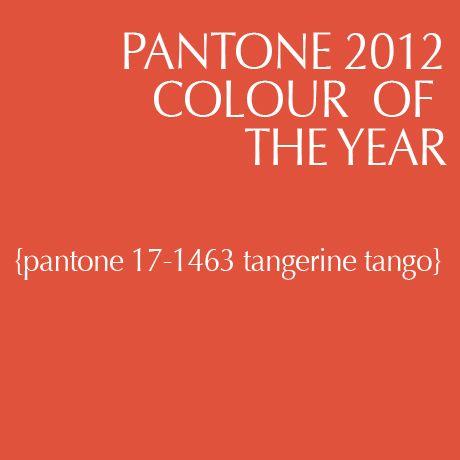 Pantone 2012 color of the year: tangerine tango